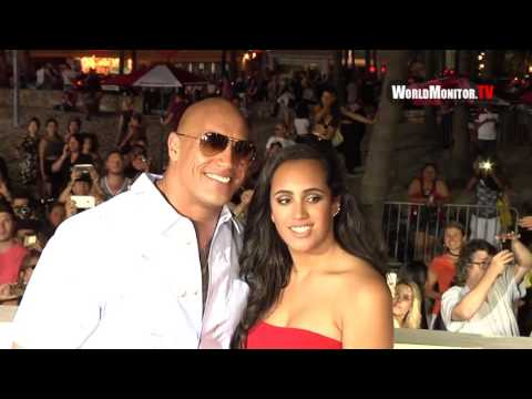 'The Rock' Dwayne Johnson, Simone Johnson Baywatch Miami premiere