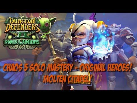 DD2 Solo Mastery Walk Through - Molten Citadel - OG Heroes Only!