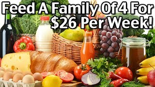 Cheap Healthy Family Meal Ideas - Feed A Family Of 4 For $26 Per Week!