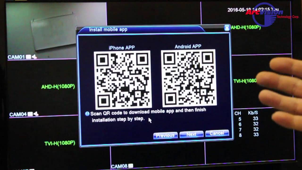 How to Connect to Cloud P2P with QR Code for JFTA01-03 Series DVR