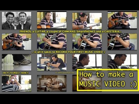How to make a MUSIC VIDEO - simply jamming in a cafe with friends!