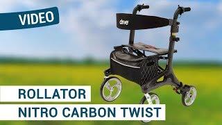Produktvideo zu Rollator Drive DeVilbiss Nitro Carbon Schwarz