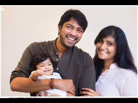 Allari Naresh With Wife And Daughter Ayana Very Cute Video !!