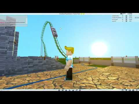 Roblox  Theme Park Tycoon 2  Building My First Roller Coaster  Gamer Chad Plays