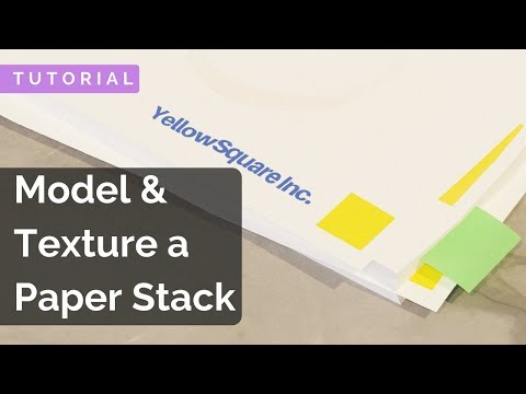 How to make a Paper Stack - Blender Tutorial (2.79)