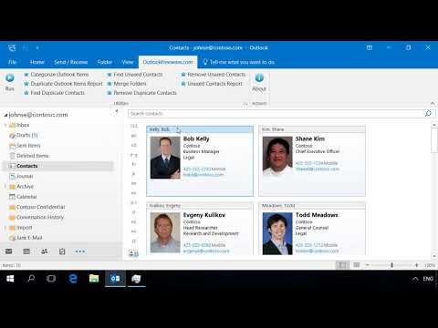 Find Unused Outlook Contacts