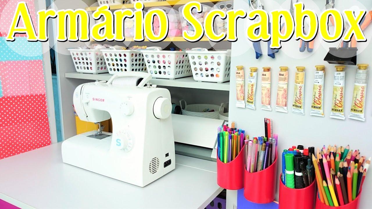 Armario Microondas Conforama ~ Meu armário Scrapbox ficou pronto mini atelier para Scrapbook e costura YouTube