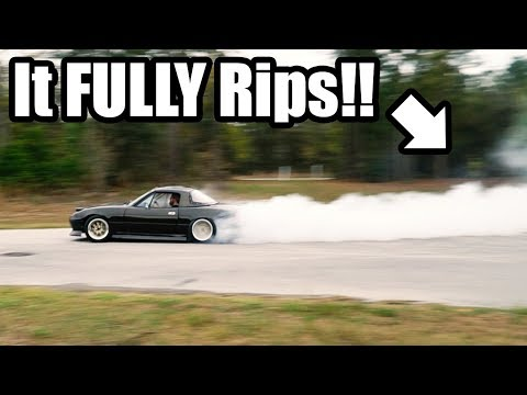 Street Drifting the LS Miata!! FIRST DRIFTS With The New Setup in an SICK Abandoned Neighborhood!