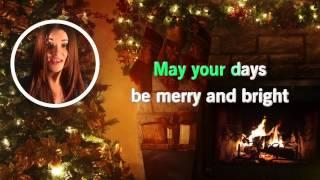 WHITE CHRISTMAS Instrumental  KARAOKE + Lyrics - Diana-Maria - HD !