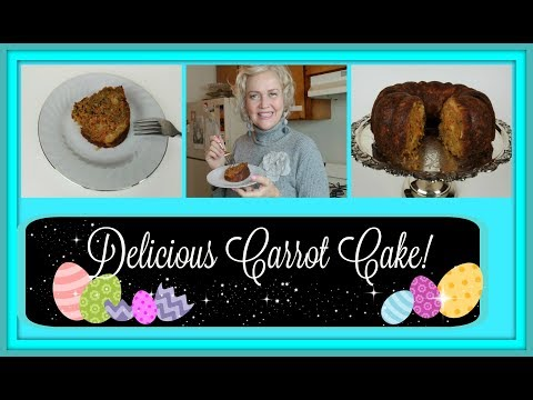 The Best Carrot Cake Ever with Pineapple and Coconut!