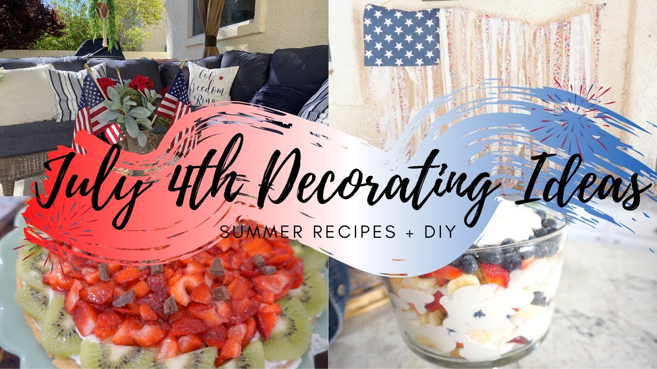 DIY PATIO DECORATING IDEAS | JULY 4TH 2020 | CLEAN + DECORATE | MONICA ROSE