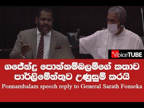Gajendrakumar Ponnambalam, TNPF leader, addressing  parliament - Full Speech