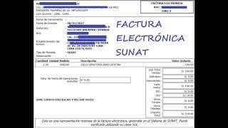 Cómo emitir una Factura Electrónica  - Sunat