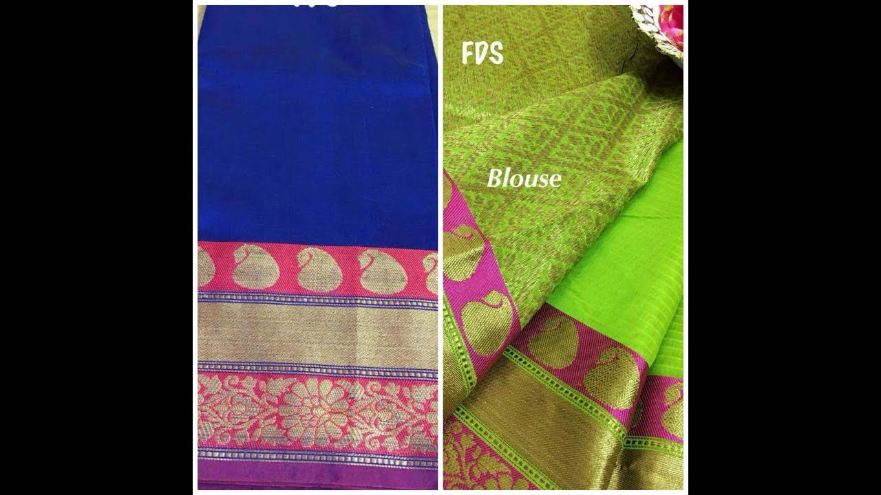 91b27fb2a Exclusive Chanderi Silk Blend sarees with Zari weaves with price ...