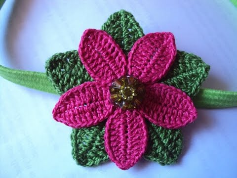 Como Hacer Flores A Crochet Faciles Youtube