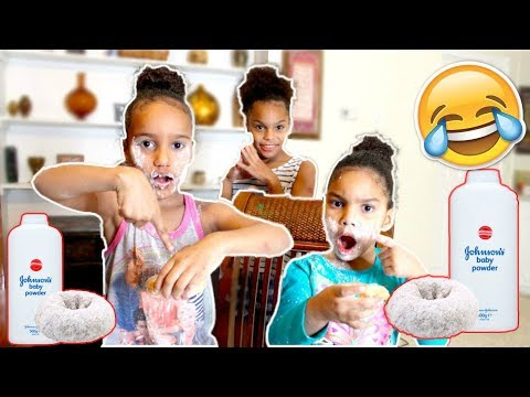BABY POWDERED DONUT PRANK!!!