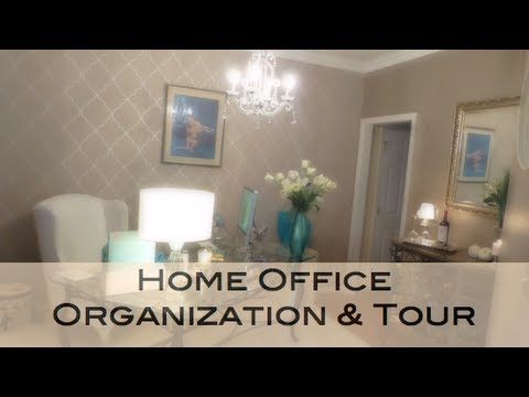 Home Office Organization U0026 Tour   YouTube