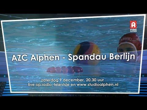 Promo AZC Alphen - Spandau '04 Berlin (LEN Champions League)