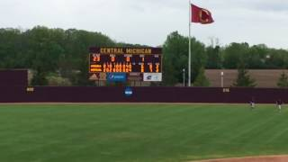 Central Michigan University Baseball with Epic Walk off Win against Ball State University