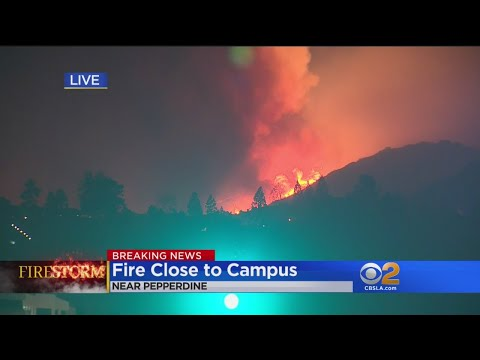 Fire Close To Pepperdine Campus