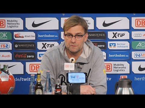 Pressekonferenz: Jürgen Klopp nach der Niederlage bei Hertha BSC (0:1)   BVB