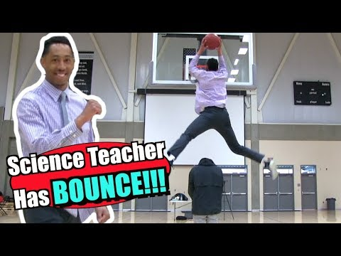 Science Teacher Puts on Slam DUNK Show for Students!!