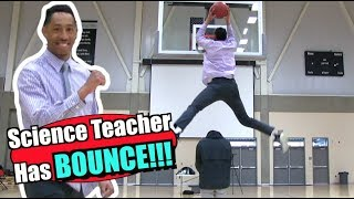 Science Teacher Puts on Slam DUNK Show for Students!! Video
