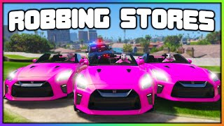 GTA 5 Roleplay - ROBBING STORES DRESSED EXACTLY THE SAME | RedlineRP