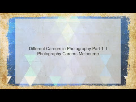 Different Careers In Photography Part 1 | Photography Careers Melbourne