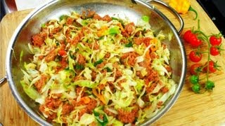 Quick Caribbean Corned Beef With Cabbage Recipe.