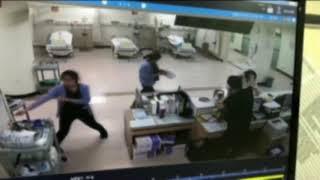 구미차병원 응급실 폭행현장 CCTV화면