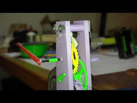 Pendulum clock video WMV file