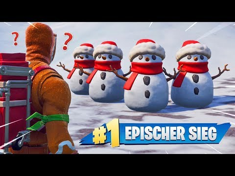 Mit SCHNEEMANN NOOBS TROLLEN in Fortnite Battle Royale