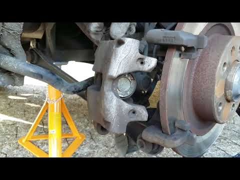 How to replace / change rear brake pads Peugeot 508 with electronic handbrake / parking brake