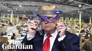 Trump fails to wear mask at Mi…