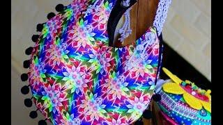 Bolsa Redonda de tecido por Rosa Mutuca