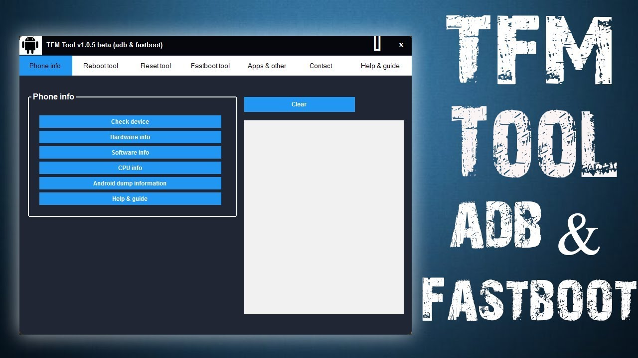 TFM Android Tool v1.0.5 Beta ADB and Fastboot | (Best Android Service Tool)