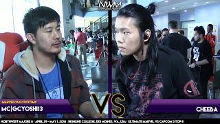 #NWM8 #UMvC3 LT8 - MC GCYoshi13 (CHR-SPE-SEN) vs Cheeba (DEA-DAN-HIR)