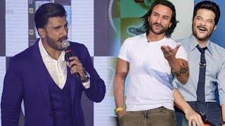 Ranveer Singh FUNNY Mimicry of Anil Kapoor & Saif Ali Khan