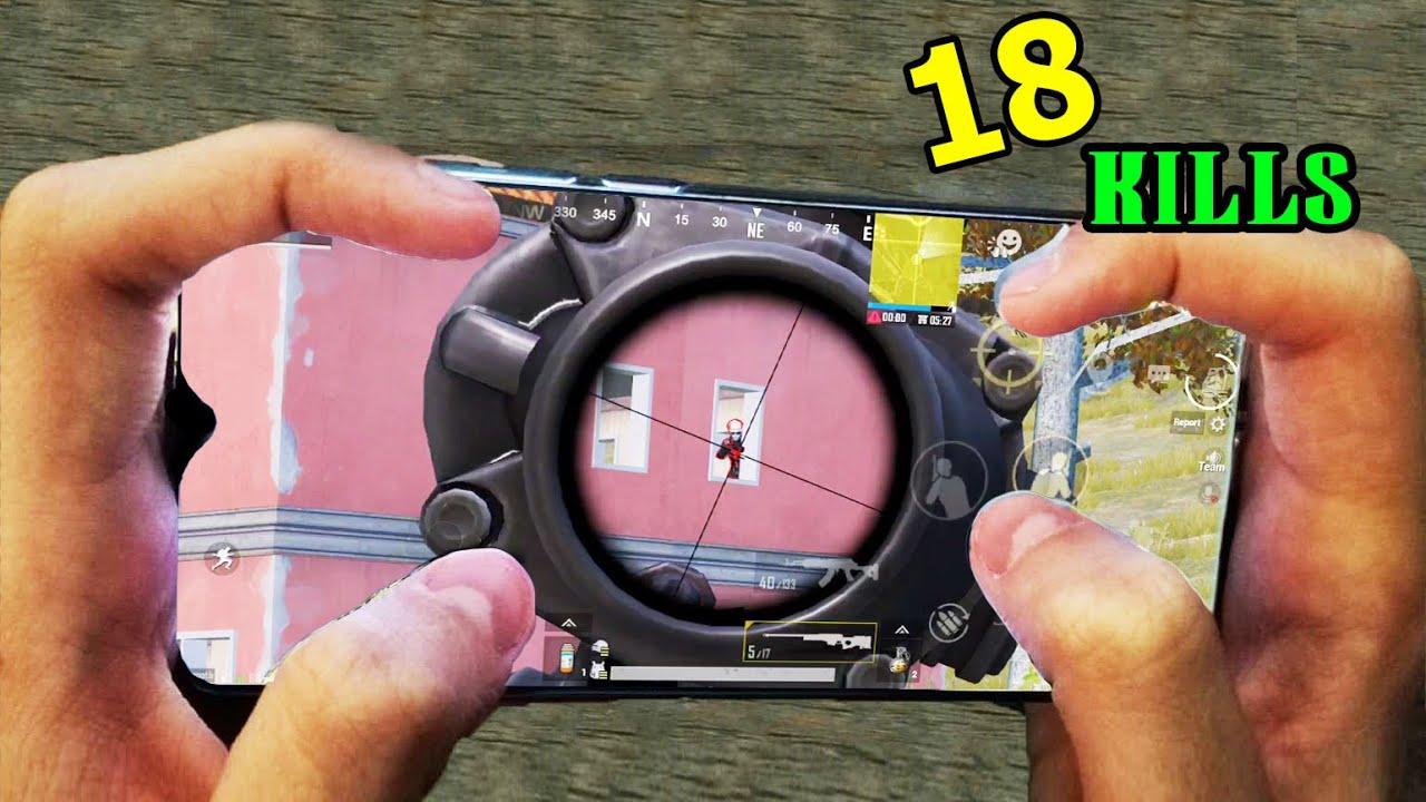 BEST SPRAY M416 + 6x PUBG | HANDCAM | 4 Finger + Full Gyro | Redmi Note 8 Pro
