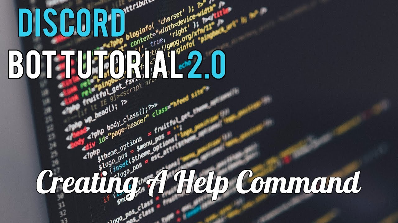Discord Bot Tutorial 2 0 | Creating A Help Command [13]