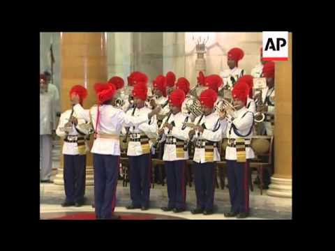 Myanmar's General Than Shwe on visit to India