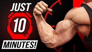 Biceps & Triceps In 10 minutes! | NO EXCUSES Superset Training!