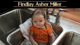 Baby Findlay Asher Miller Annoucement