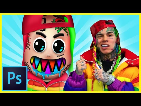 Photoshop Cover Art Tutorial – 6ix9ine GOOBA