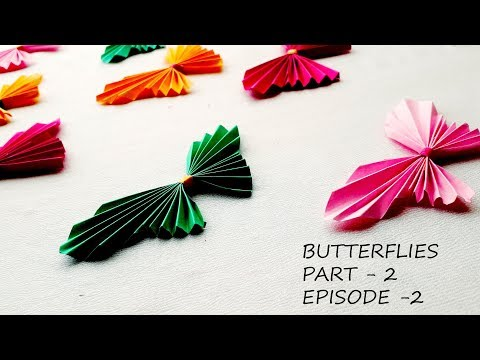 SUPER easy to make paper ribbon butterfly || DIY origami || craft and innovation ep 02