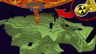 BOMBA NUCLEAR VS. THE END (DESTRUI O THE END?!) MINECRAFT
