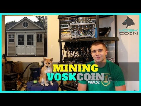 VoskCoin Cryptocurrency 12/17 Mining Farm Update + Mining Shed Build + Electric