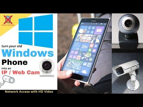 Old Windows Phone To Webcam / IP Cam / Security Cam