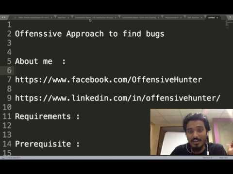 Offensive Approach To Hunt Bugs  | Vikash Chaudhary | OffensiveHunter